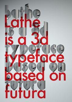 Lathe Typeface on Behance