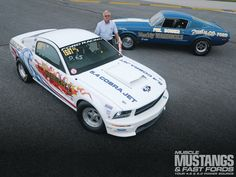 1968 Ford Mustang 428 Cobra Jet And 2008 Ford Mustang Cobra Jet - First In The - Muscle Mustang & Fast Fords Magazine Mustang Cobra Jet, 68 Ford Mustang, 2015 Mustang, Mustangs, Drag Racing, Convertible, Muscle, Classic, Cars