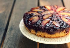 The Vanilla Bean Blog | plum blueberry upside-down cake with cardamom
