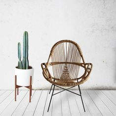 Design WEND STUDIO The Diamond Chair, with its open weave design and modern shape was created with laid back, resort-style living in mind. A collaboration with