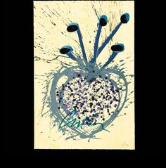 True Hearts and Ikebana Too, Three-color intaglio/lithograph with handwork SOLD OUT
