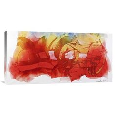 """Global Gallery 'Venerdi 12 Marzo 2010 B' by Nino Mustica Painting Print on Wrapped Canvas Size: 18"""" H x 36"""" W x 1.5"""" D"""