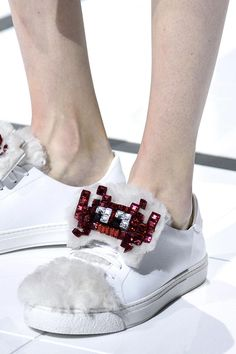The Wildest Shoes, Bags, and Accessories from LFW Fall 2016 - Anya Hindmarch @stylecaster