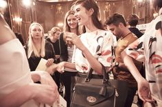 Backstage at the Mulberry SS14 show.