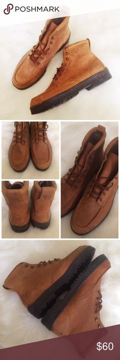 Thornton Bay Outdoors Boots These are great outdoor boots! They have a bunch of marks around the shoes from storage, but they have only been worn a few times. Leather.  ✅Reasonable offers welcome! ✅BUNDLE DISCOUNTS! 🚫No trades/paypal/other apps. 🚫No lowball offers. Thornton Bay Outdoors Shoes Boots