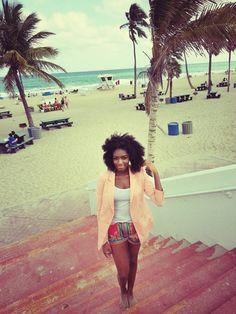 Natural Hair, beach Style