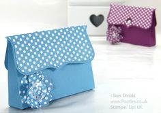 Stampin' Up! UK Independent Demonstrator Pootles. Clutch Bag Tutorial using ©Stampin' Up Top Note Die