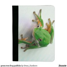green tree frog padfolio