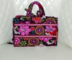 Vera Bradley Floral Print Fold Up Travel Cosmetic Bag . Starting at $25