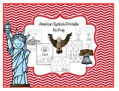 American Symbols Printable No Prep