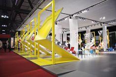 Pedrali Mirror stand by Migliore+Servetto Architects, Milan exhibit design