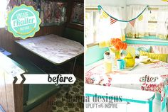 love this camper makeover  Rhonna DESIGNS: Vintage Trailer Refurb--->The Dazey: Before & After