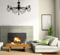 Candle Chandelier Wall Vinyl Decal Art Sticker Home Modern Stylish Interior Decor for Any Room Smooth and Flat Surfaces Housewares Murals Design Graphic Bedroom Living Room (4051) stickergraphics http://www.amazon.com/dp/B00ILQV0I6/ref=cm_sw_r_pi_dp_eVUUtb1TV1KR0W77