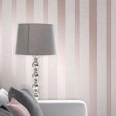 Fine Decor Quartz Stripe Wallpaper Rose Gold FD42205