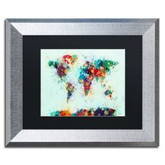 Pinta tu pared con murales y decora tu cuarto ideas para tu trademark art world map paint splash by michael tompsett framed graphic art size gumiabroncs Choice Image