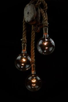 The Triple Set sail Chandelier  Barn Pulley  от MoonStoneFox