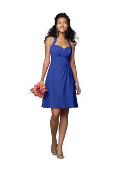 Chiffon Cobalt Blue Bridesmaid Dresses TET114
