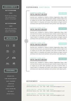 Resume Template 3pk CV Template Cover por TheResumeBoutique