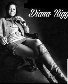 Emma Peel of the Avengers Female Actresses, British Actresses, Actors & Actresses, Diana Riggs, Dame Diana Rigg, Avengers Girl, Emma Peel, Actrices Sexy, Stars
