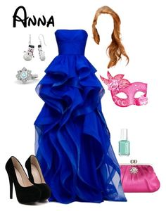 """""""Disney - Anna"""" by briony-jae ❤ liked on Polyvore featuring Style & Co., Essie, women's clothing, women, female, woman, misses and juniors"""