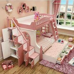 """Explore our site for even more details on """"bunk beds for kids boys"""". It is a great spot to find out more. Baby Bedroom, Girls Bedroom, Bedroom Decor, Wall Decor, Bed For Girls Room, Little Girl Rooms, Kids Bedroom Designs, Kids Room Design, Princess Bedrooms"""
