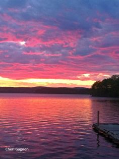 Sunset over Lake Auburn Maine...... #Relax more with healing sounds: