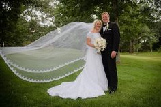 The dress is white (not ivory or off white). It is in excellent condition. It was immediately sent to a wedding specialist for cleaning and preservation after the wedding. In addition to the dress, I am including the matching Pronovias Letour cathedral length veil. This had been sewed into a head piece and is still in perfect condition for a head piece or to add a veil comb.