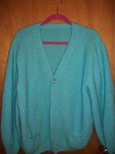 Aqua knit long sleeve sweater in GrandmasClutter's Garage Sale in Colorado Springs , CO for $6.00.