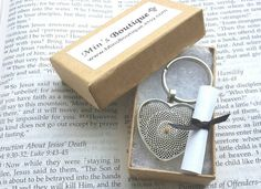 Mother's day gift - $14.50 Check out this item in my Etsy shop https://www.etsy.com/listing/220240847/antique-silver-mustard-seed-keychain