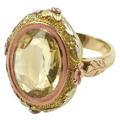 Victorian Citrine Ring