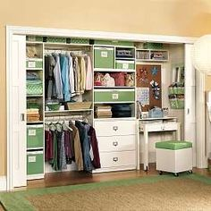 Build Your Desk In A Closet: Beautiful Desk In Closet Ideas Seat Sliding Door Carpet Wooden Flooring ~ aureasf.com Bookshelves Inspiration