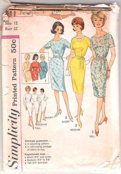 Vintage 60s Dress Pattern Wiggle Sheath UNCUT FF by weezieduzzit, $5.00
