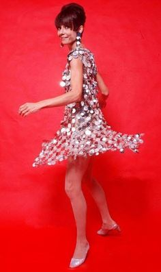 Audrey wearing Paco Rabanne, 1966.....