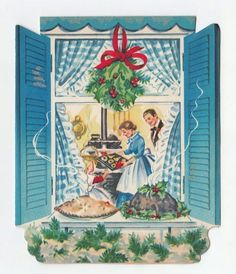 Christmas Dinner in the window