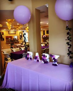 Purple And Gold Floral Rustic Themed Baby Shower