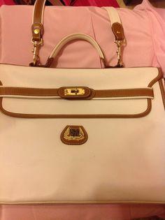 Items Similar To Lancel Paris Vintage Leather Handbag Portfolio Attache On Etsy