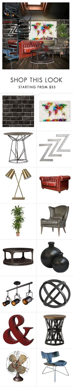 """""""CONTEST: Industrial Colors"""" by loganizer on Polyvore featuring interior, interiors, interior design, home, home decor, interior decorating, Threshold, Nearly Natural, Home Decorators Collection and Westinghouse"""