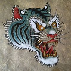 Would love to tattoo this! For appointments: Jeroen@thebluebloodstudios.com #tattoo #tattoos #painting #tiger #traditionaltattoo #realtraditional #topclasstattooing #realtattoos #trad_tattooflash #qualitytattoos #thebluebloodstudios #amsterdam