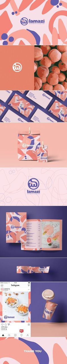 Lamazi patisserie brand identity and packaging by Nada Adel .- Lamazi patisserie brand identity and packaging by Nada Adel Logo Design, Brand Identity Design, Graphic Design Branding, Corporate Design, Logo Inspiration, Packaging Design Inspiration, Brand Style Guide, Restaurant Branding, Branding Agency