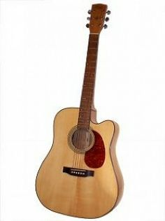 Acoustic guitar with a cutaway