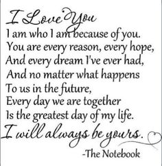 The Notebook Quotes The Notebook Quotes  I Wanna Know What Love Iss  Pinterest