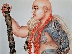 Hio - Portrait Of A Samoan Chief Painting