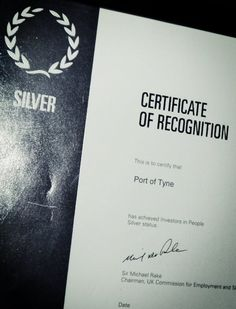 Port of Tyne gets Silver IIP accreditation