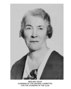 Idler, S. May - Mc Gill, Faculty of Arts, Royal Victoria College,  First honors in Modern Languages, Gold medalist (1905) Founding member University Women's Club of Montreal in 1927.