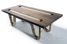 """American designer Matt Finder has designed a simple coffee table Complect. In designer's words, """"Named after a synonym for """"interweave,"""" Complect features"""