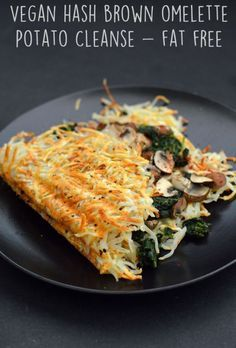 Vegan Hash Brown Omelette- 6 Vegan Gourmet Potato Cleanse Recipes (Starch Solution/HCLF) Fat Free, G Veggie Recipes, Whole Food Recipes, Healthy Recipes, Potato Recipes, Fat Free Recipes, Dinner Recipes, Meal Recipes, Gourmet Food Recipes, Cooking Recipes