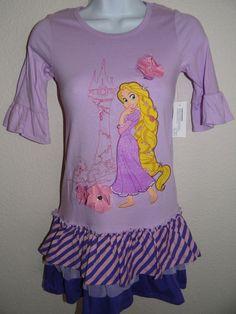 NWT GIRL'S DISNEY PURPLE STRAIGHT DRESS SIZE: XS(4), S(5/6), & L(10) #Disney #Everyday