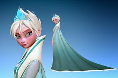 Early Elsa character model Chad Stubblefield