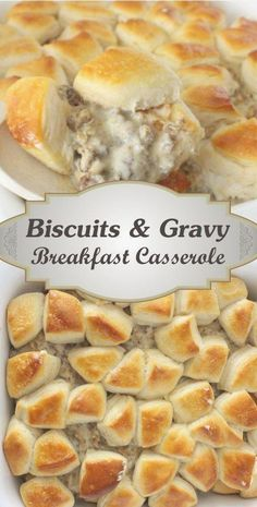 Biscuits And Gravy Breakfast Casserole RecipeYou can find Brunch recipes and more on our website.Biscuits And Gravy Breakfast Casserole Recipe Breakfast Desayunos, Breakfast Dishes, Easy Breakfast Ideas, Breakfast Sausage Recipes, Breakfast For A Crowd, Brunch Ideas For A Crowd, Sausage Meals, Delicious Breakfast Recipes, Yummy Dinner Ideas