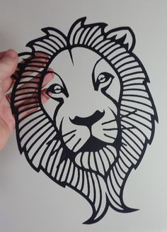 Papercut Template Lion Commercial Use Great by PeppermintPurple